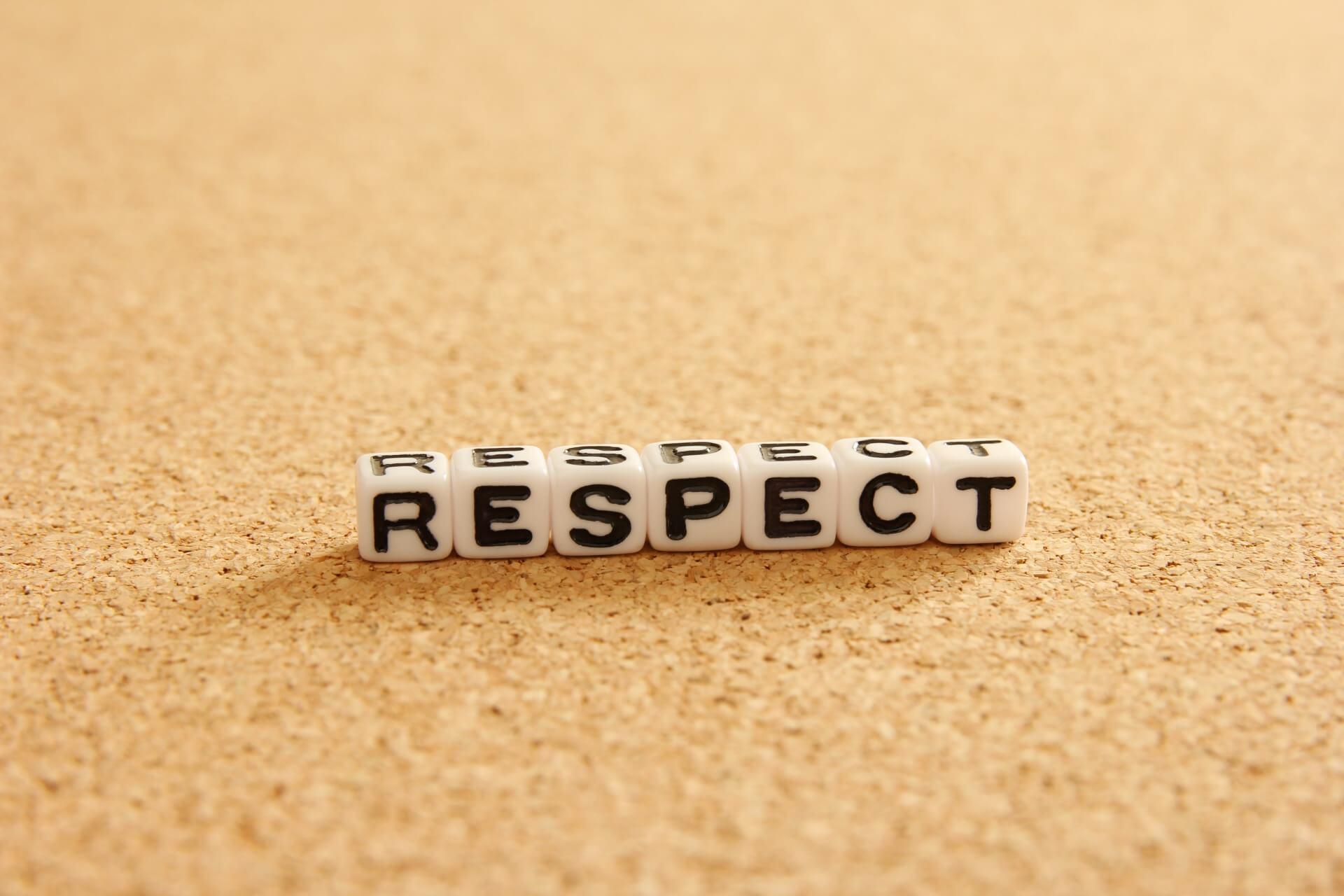 尊敬を意味する画像