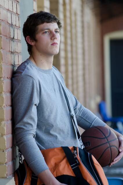 バスケットボール青年